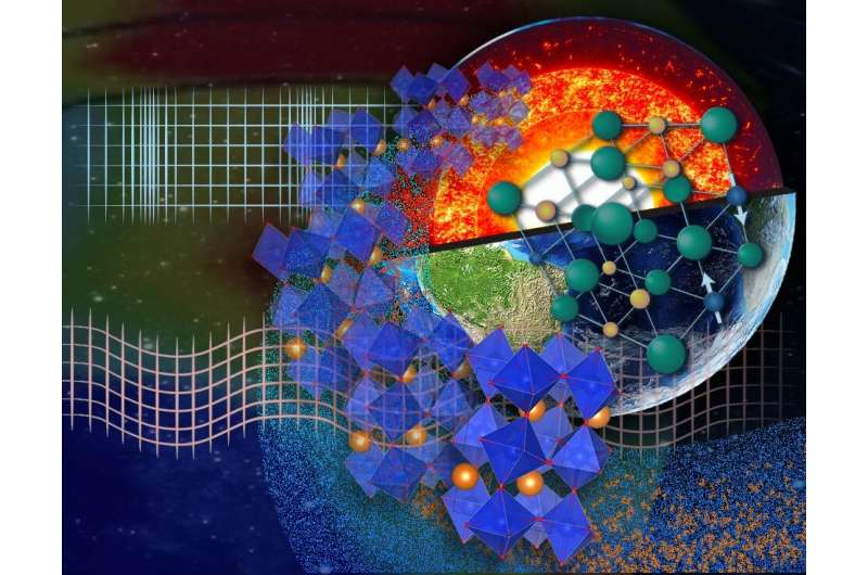Quantum phase transition detected on a global scale deep inside the earth
