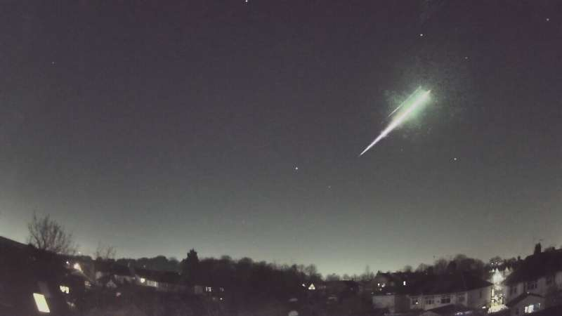 Rare meteorite recovered in U.K after spectacular fireball