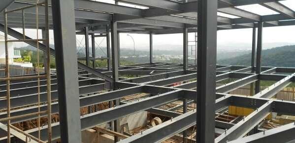 Reducing embodied carbon in steel-framed buildings