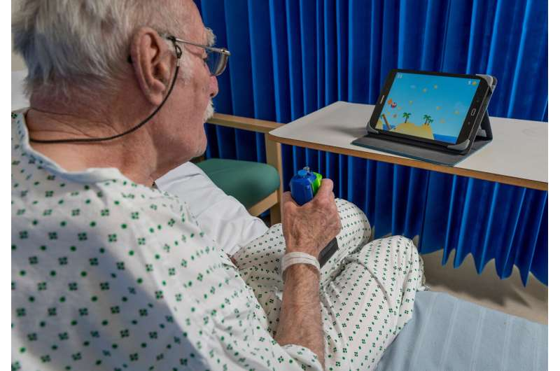 Rehab device enables stroke survivors with arm disabilities to do more training