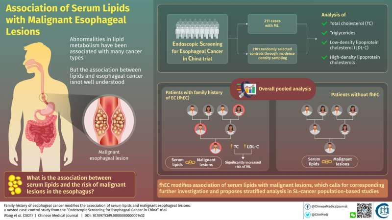 Running in the blood: Blood lipids are linked to cancer, but depending on family history