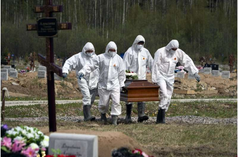 Russia blames increase in deaths in June on delta variant