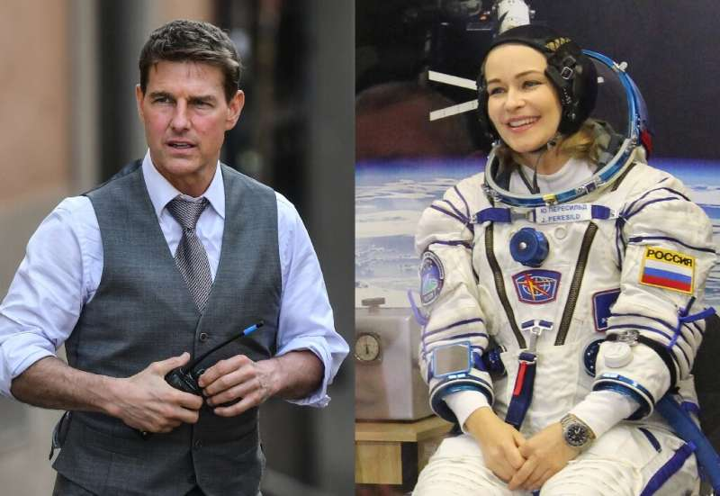 Russian actress Yulia Peresild has beaten Hollywood star Tom Cruise in the movie version of the space race