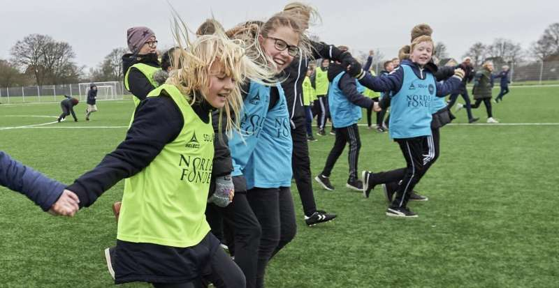 Schoolchildren are learning about health through football (soccer)