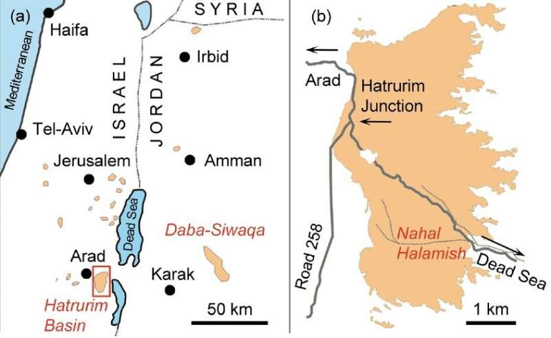 Scientists discover at the Dead Sea a mineral previously only known in meteorites