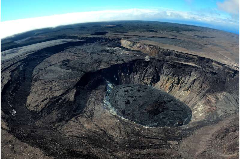 Scientists test friction laws in the collapsing crater of an erupting volcano