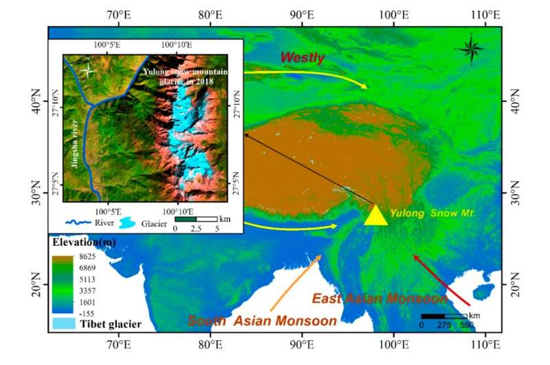 Scientists estimate ice thickness and subglacial terrains in Yulong snow mountain