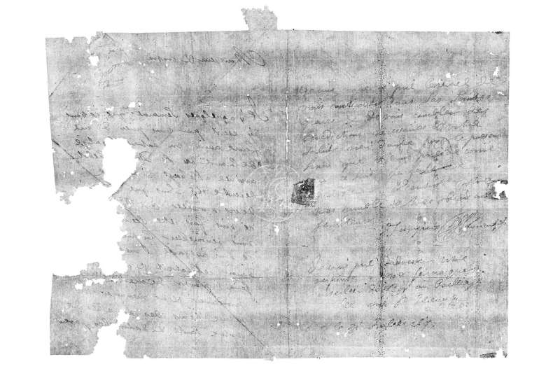 Secrets of sealed 17th century letters revealed by dental X-ray scanners