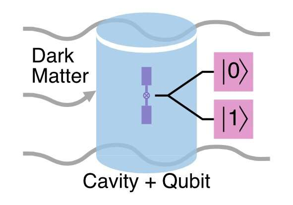 Sensitive qubit-based technique to accelerate search for dark matter
