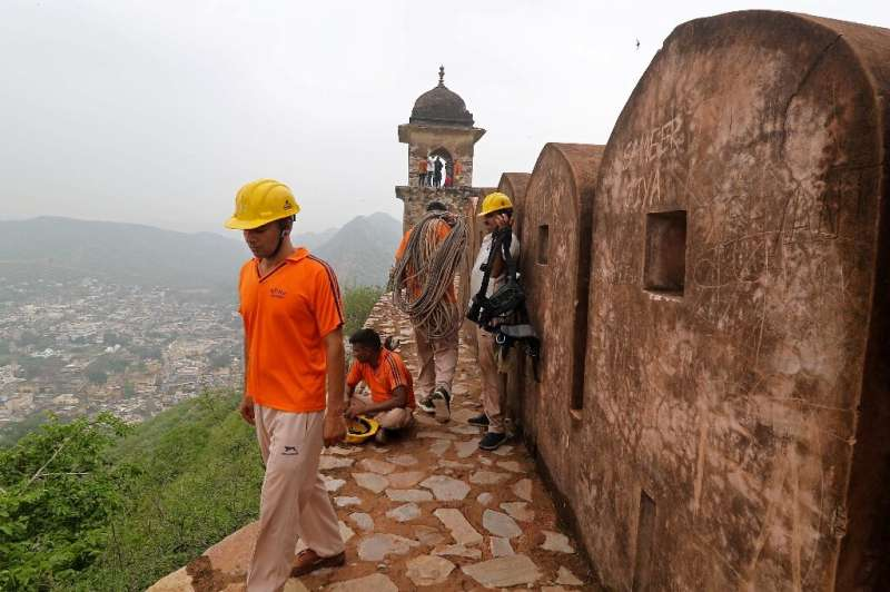 Several people at Amer Fort were among nearly 80 killed by lightning strikes during India's monsoon season