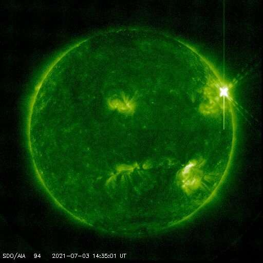 Significant solar flare erupts from sun