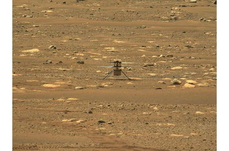 Since reaching Mars in February under the belly of the Perseverance rover, the four-pound (1.8 kilograms) helicopter has made th