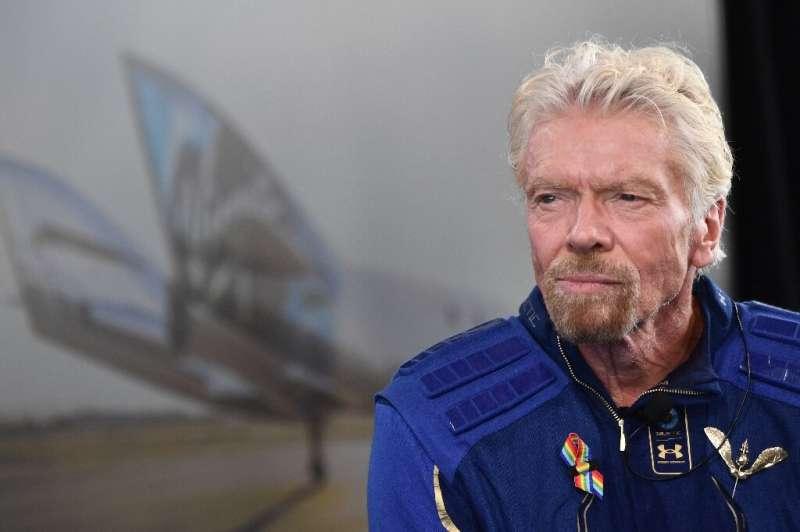 Sir Richard Branson speaks after he flew into space aboard the Virgin Galactic vessel