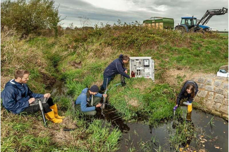 Los pequeños arroyos de los ecosistemas agrícolas están muy contaminados con plaguicidas