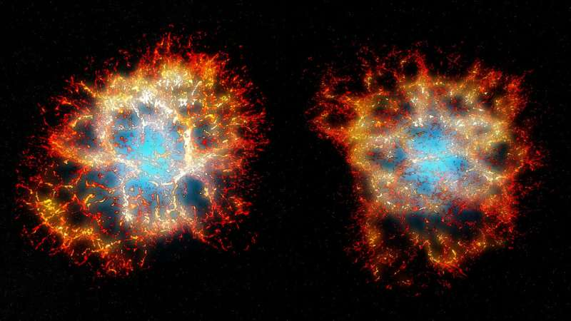 Spectacular 'honeycomb heart' revealed in iconic stellar explosion Spectacularh