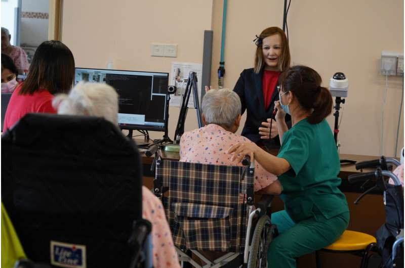 Study explores the potential of using a humanoid robot to entertain the elderly