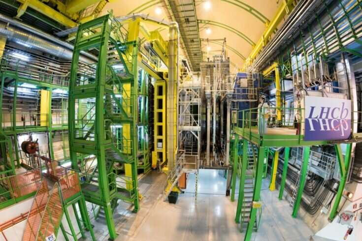 Subatomic particle seen changing to antiparticle and back