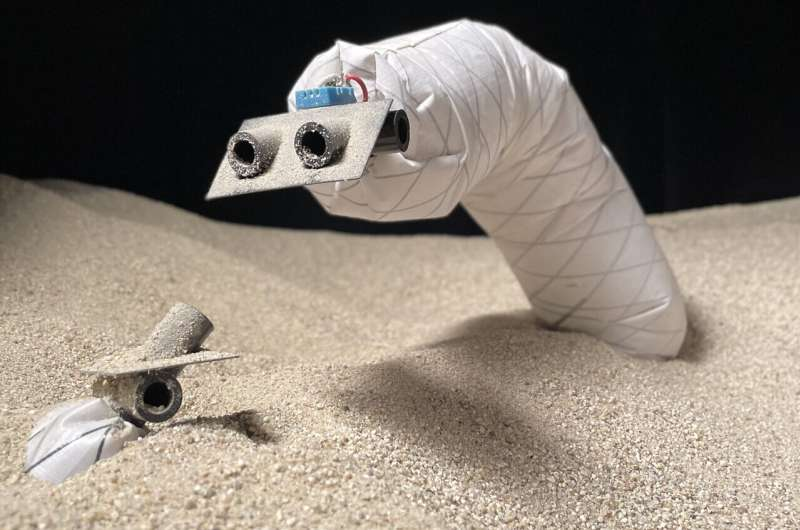 Subterranean investigations: Researchers explore the shallow underground world with a burrowing soft robot