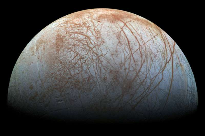 Surface of Jupiter's moon Europa churned by small impacts