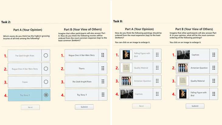 Surprisingly popular voting algorithm developed to recover ranked choices