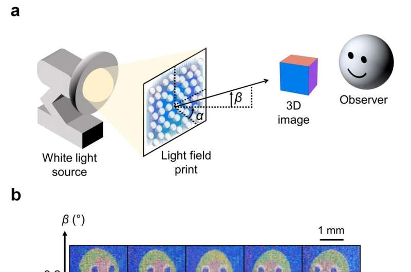 SUTD researchers use nanoscale 3D printing to create high-resolution light field prints