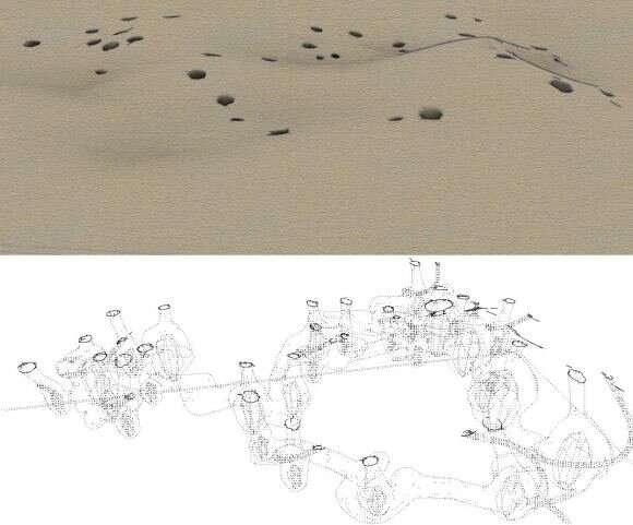 Uno sciame di robot è riuscito a scavare una città sotterranea su Marte