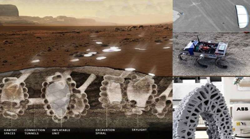 Swarms of robots could dig underground cities on mars