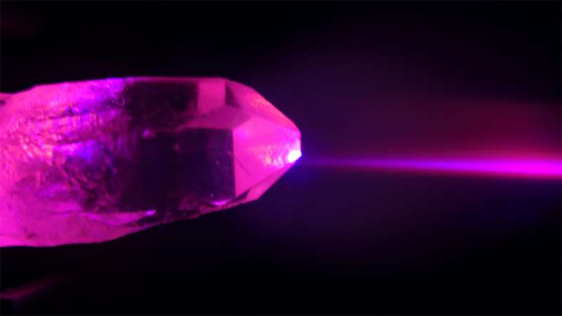Tailored laser fields reveal properties of transparent crystals