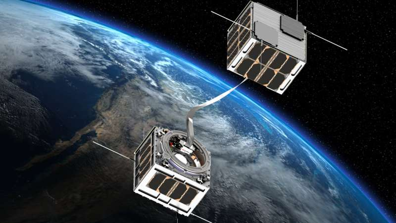 Tethered satellites for propulsion without fuel