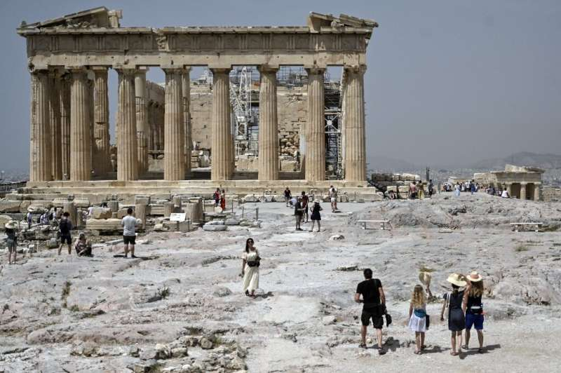 The Acropolis, one of the most visited tourist sites in Greece, was shut during the afternoon due to soaring temperatures