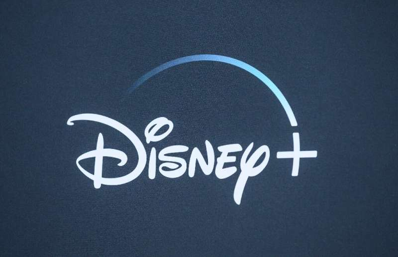 """The Disney+ logo is seen on the backdrop for the World Premiere of """"The Mandalorian"""" at El Capitan theatre in Hollywoo"""