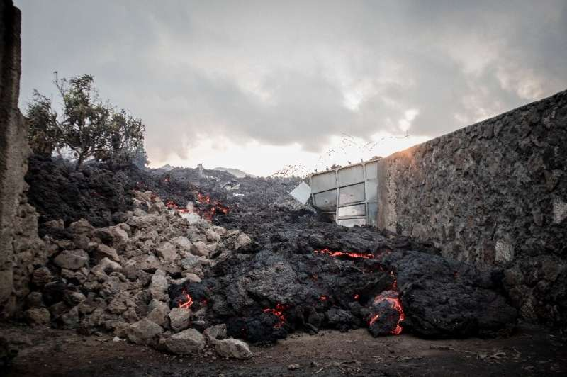 The eruption has left hundreds of people homeless
