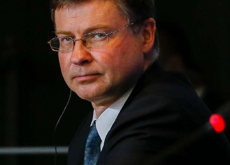 The European Commission's Valdis Dombrovskis stressed the need to reform the WTO to deal with China