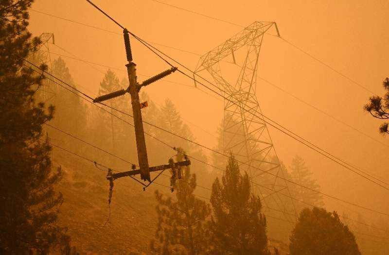 The fire broke out when a tree fell on one of California's exposed power lines