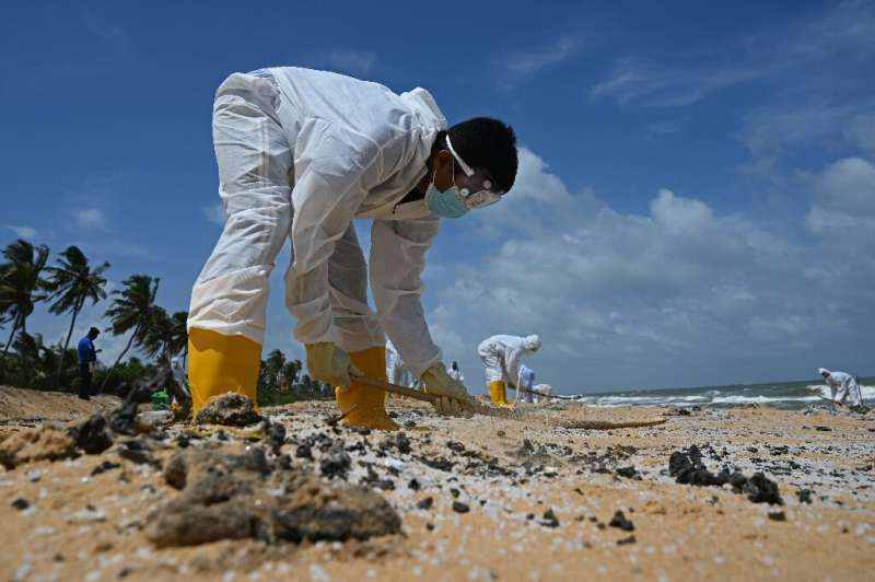 The fire has already caused Sri Lanka's worst marine ecological disaster