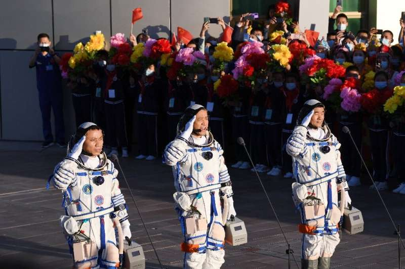 The launch of Beijing's first crewed mission in nearly five years coincided with the 100th anniversary of the ruling Communist P