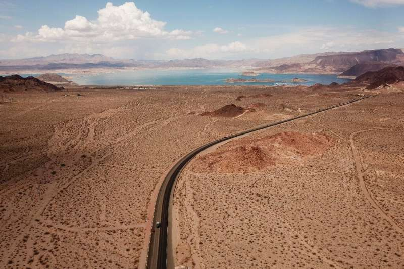 The level of Lake Mead - as seen in July 2021 from Boulder City, Nevada - has been steadily declining due to a chronic drought