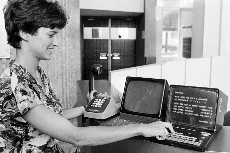 The Minitel, an internet forerunner, allowed users to check the news and make restaurant reservations