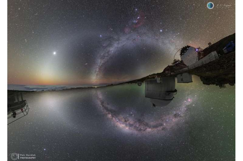 The natural brightness of the night sky