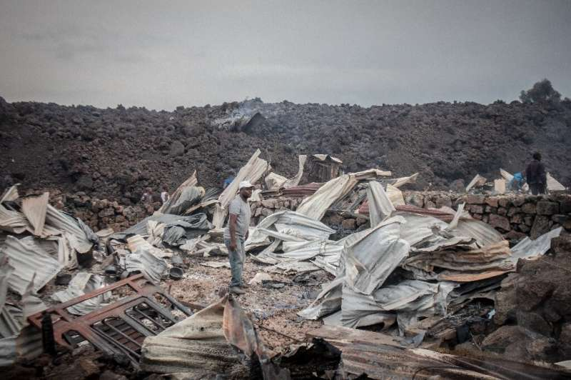The volcano's eruption destroyed between 900 and 2,500 homes, humanitarian groups estimated