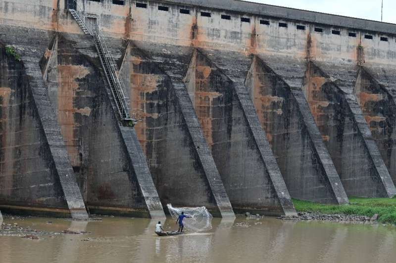 The water level at Ayame dam has fallen by five metres (15 feet)—its lowest in more than a decade