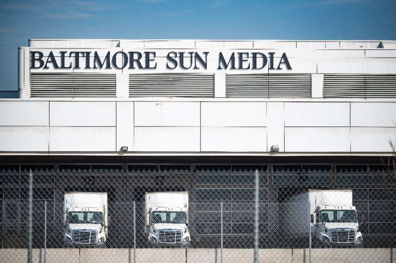 The Baltimore Sun has moved its newsroom to this headquarters building with its printing operations, but journalists have been w