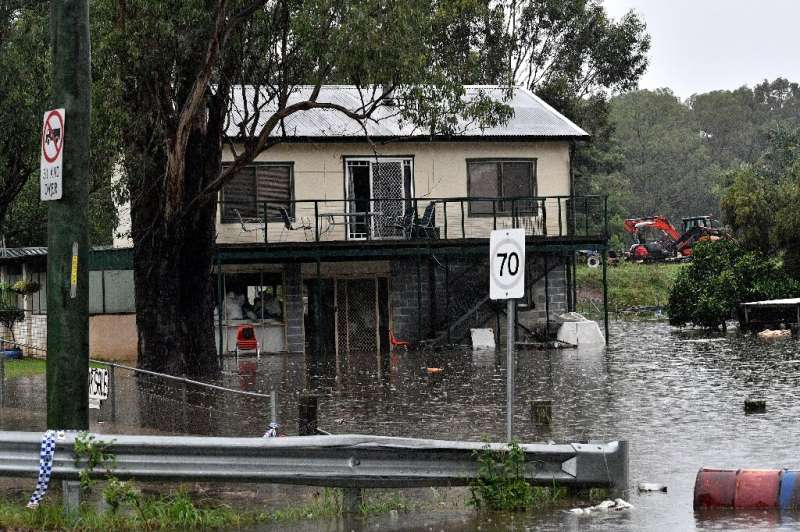 """The Bureau of Meteorology tweeted that """"unfortunately this situation is far from over"""", with half of New South Wales n"""