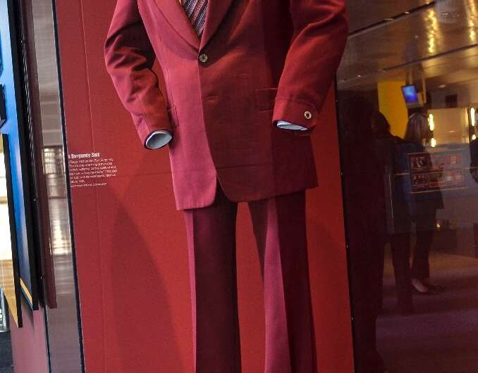 The Burgundy Polyester suit that Will Ferrell wore during filming of The Anchorman. The synthetic fibre is used widely in clothi