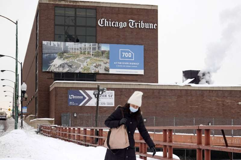 The Chicago Tribune, whose headquarters is seen here, is the flagship of the Tribune Publishing chain which is the object of a b