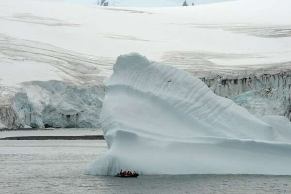 The melting of large icebergs is a key stage in the evolution of ice ages