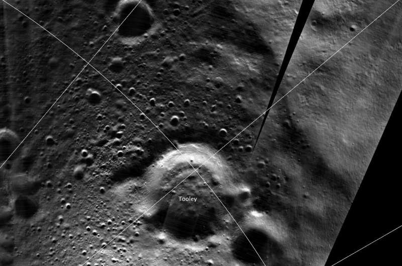 The naming of Tooley crater