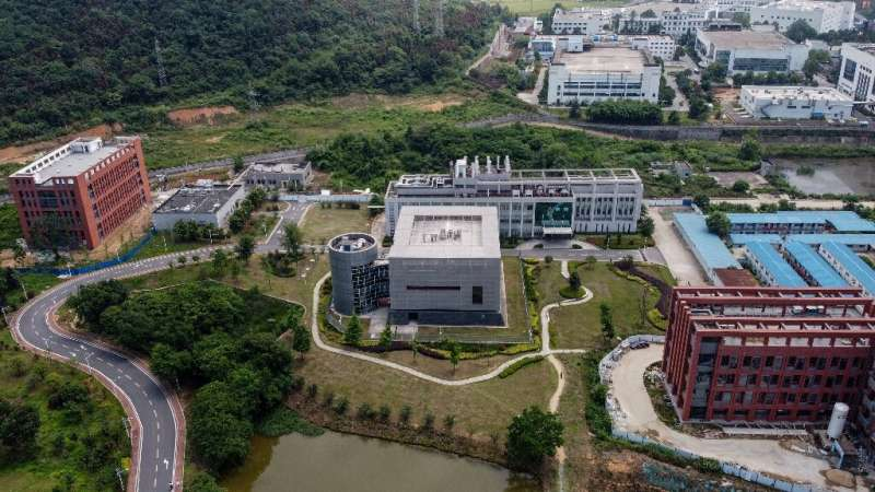The P4 laboratory (C) on the campus of the Wuhan Institute of Virology in Wuhan has been accused by some top US officials of bei