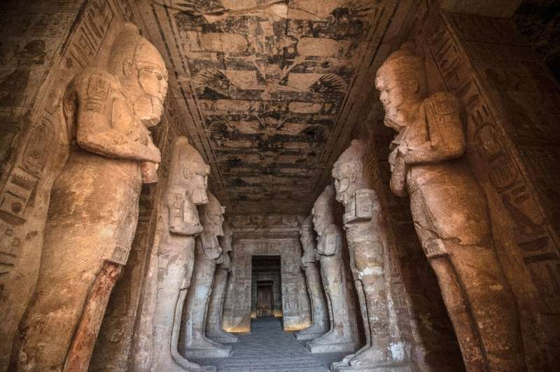 The Ramses II Temple at the archeological site of Abu Simbel in southern Egypt; the three-millenia old temples were moved in a g