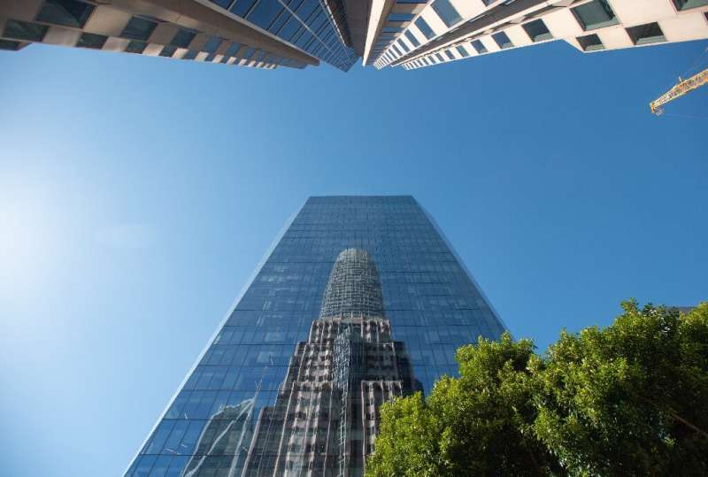 The Salesforce Tower in San Francisco is the headquarters of the US cloud computing giant, which is allowing most employees to w